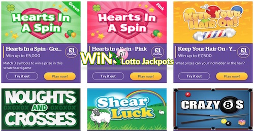 The Health Lottery Instant Win Games