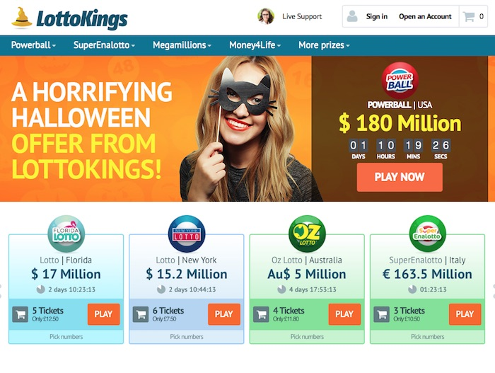 Lotto Kings Online Lottery Betting Review Screenshot