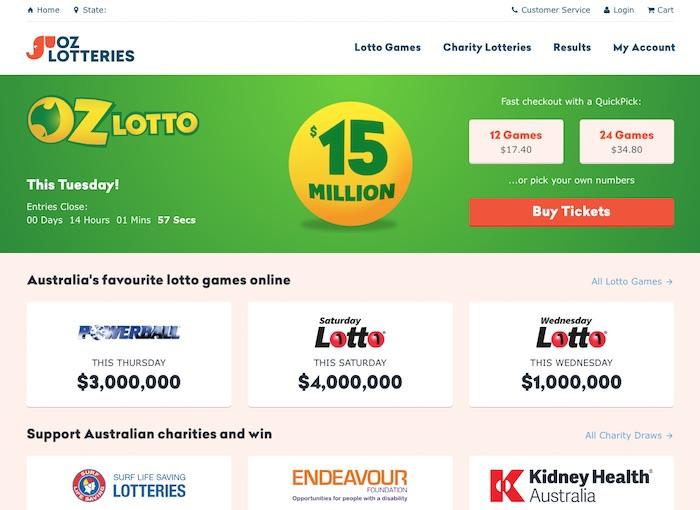 Oz Lotteries UK Player Review Screenshot