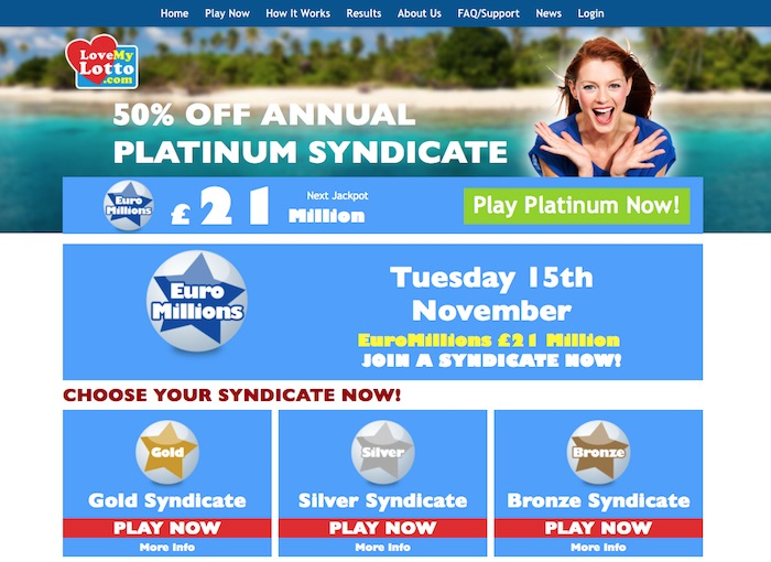 UK Review of Love My Lotto Lottery Syndicate Betting Site