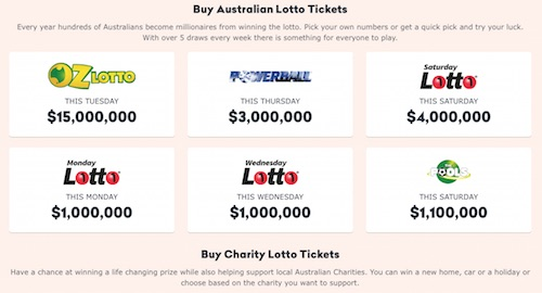 Australian Lottery Games at Ozlotteries.com