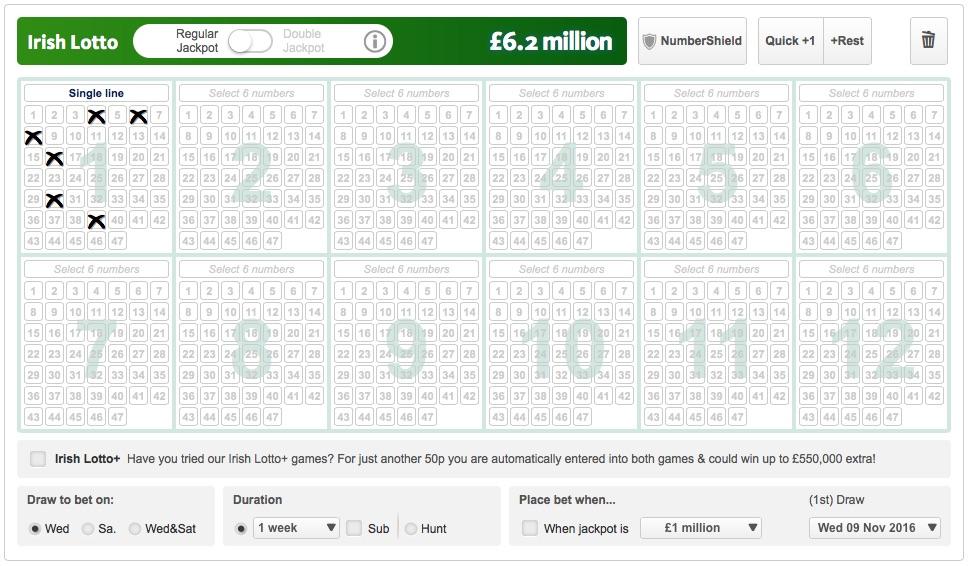 Irish lotto betting slip progressive dont betting